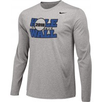 Hole In The Wall Invite 13: Adult-Size - Nike Team Legend Long-Sleeve Crew T-Shirt - Gray